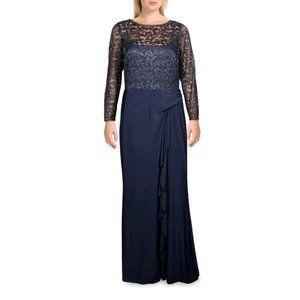 NWT Lauren Ralph Lauren Teige Metallic Gown 14